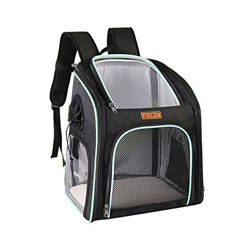 Transparenter PVC-Haustier-Rucksack, Kreative Fenster-Haustierbeutel, Atmungsaktiv Und Sichtbarer Haustier-Rucksack, Faltbarer PET-Tasche Sicherheitsgurthaken (Color : C)