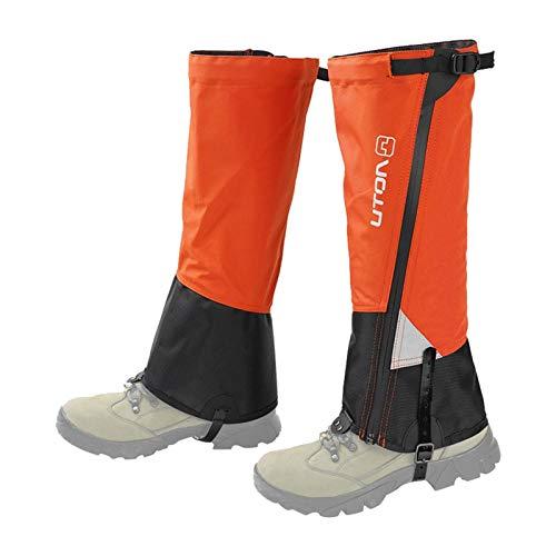Polainas para piernas con Cremallera Impermeable, Anti-desgarro Polainas para Senderismo Polainas para Botas de Nieve para Correr Senderismo Caminar Cazar Escalada y Raquetas de Nieve