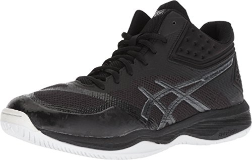 ASICS Men's Netburner Ballistic FF MT Volleyball Shoes, 9, Black/Black
