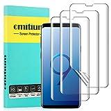 omitium Protector de Pantalla Samsung Galaxy S9, [3 Packs] Protector de Película Samsung Galaxy S9 [Cobertura Completa] Sin Burbujas Alta Definición Película Protectora de TPU Samsung Galaxy S9