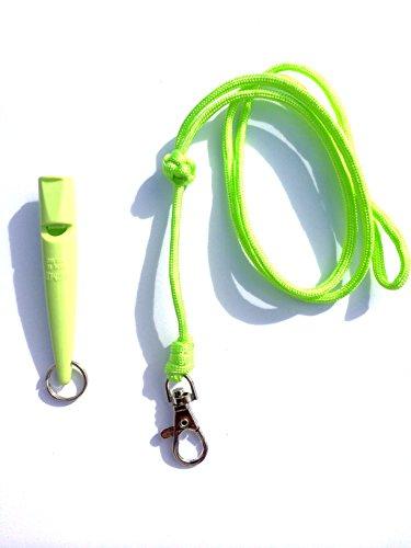 Acme 211.5 Hond Fluitje & Lanyard met Turken Hoofd Knoop 3mm in Lime Green