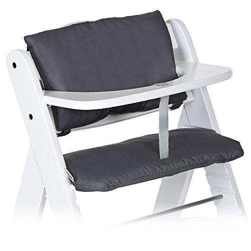 Hauck - 2-tlg. Deluxe Sitzkissen für Alpha Hochstuhl - Sitzpolster/Sitzauflage/Sitzverkleinerer/Hochstuhlauflage (Grau)