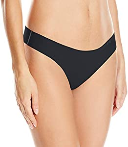 Under Armour Pure Stretch Thong Ropa Interior, Mujer, Negro (001), XL