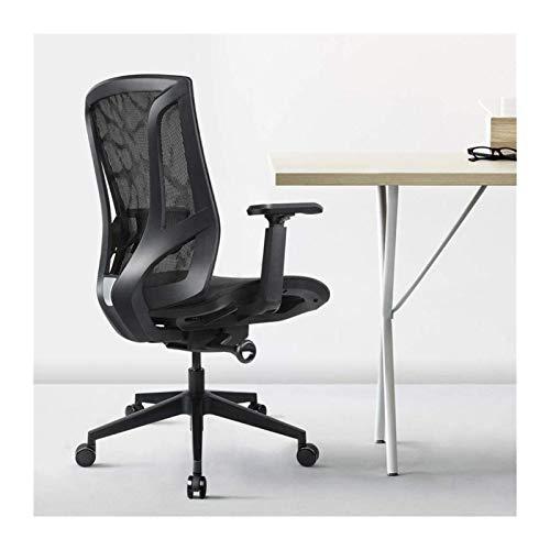 YONGYONGCHONG Silla de oficina ergonómica para oficina con malla transpirable y reposabrazos ajustables en 3D, altura ajustable (color: negro)