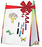 Dry Erase Board for Kids - WHITEBOARD with Dry Erase Markers and Cleaning Cloth Included - Art Easel Kids Drawing Board Stand ON Desk - Letter and Number Writing Portable Travel Art Set