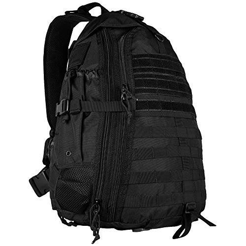 Fox Outdoor Products Ambidextrous Teardrop Tactical Sling Pack, Black