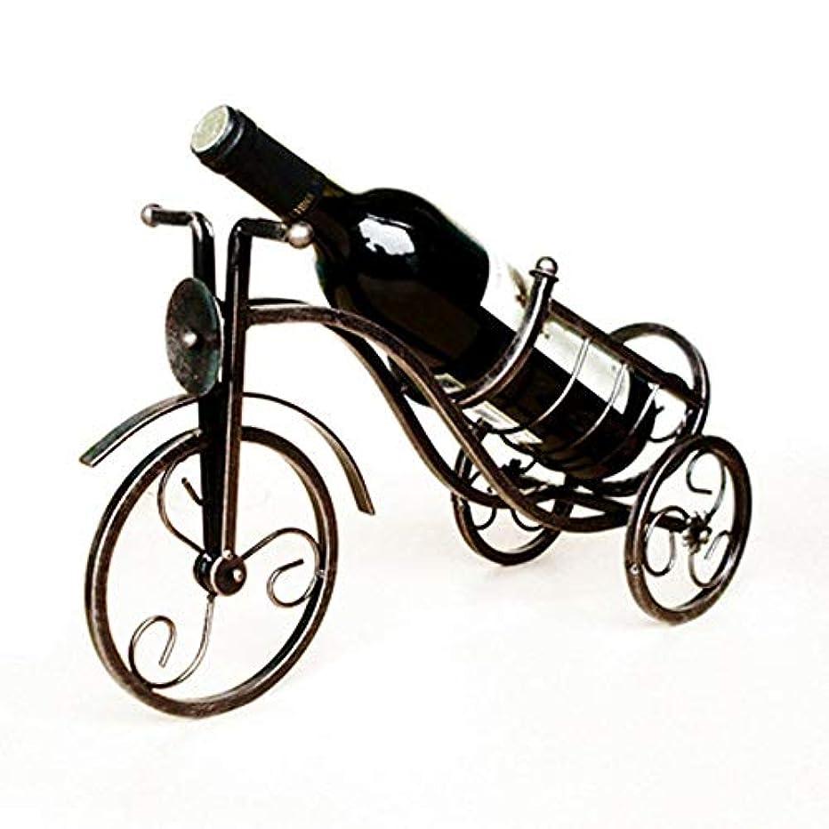 YJLGRYF Wine Racks Tabletop Wine Rack Tricycle Shape Bottle Holder Home Decor Bar Wine Bottle Holder Wine Stand (Color : Black)