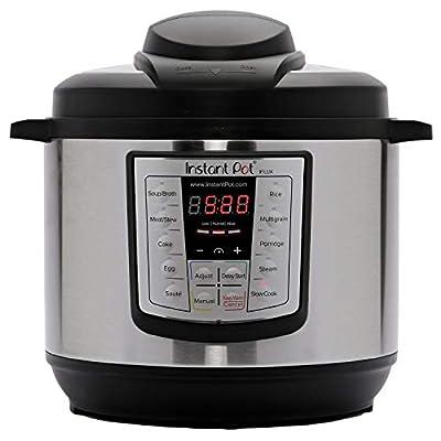 Instant Pot IPLUX80 Lux V3 Electric Pressure Cooker, 8 Quart, Stainless Steel Black