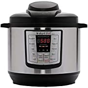 Instant Pot Lux 6-in-1 Electric Pressure Cooker, Sterilizer, Slow Cooker, Rice Cooker, Steamer, Saute, and Warmer, 8 Quart, 12 One-Touch Programs
