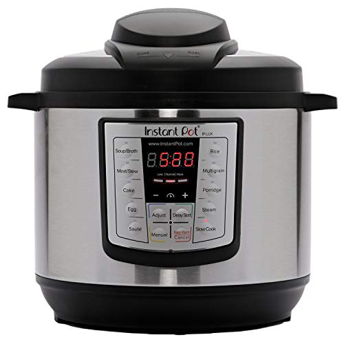 Instant Pot Lux 6-in-1 Electric Pressure Cooker, Slow Cooker, Rice Cooker, Steamer, Saute, and Warmer|8 Quart|12 One-Touch Programs