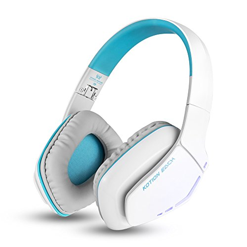 Combaterwing KOTION EACH V4.1 B3506 cuffia auricolare Bluetooth Headphones Stereo Wireless Gaming Headset pieghevole con il Mic per PS4 PC Smartphone Computer