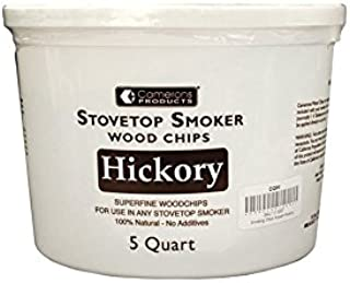 Smoking Chips - (Hickory) Kiln Dried, Natural Extra Fine Wood Smoker Sawdust Shavings - 5 Quart Barbecue Chips