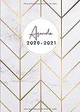 Agenda 2020 2021: Agenda 2020/2021 A5 - Organiza tu día - Agenda semanal - julio 2020 a diciembre 2021 - español - diseño de mármol
