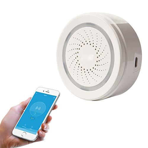 TantumHome Tuya Smart WLAN Türgong Erweiterung und WLAN Alarmsirene, 100dB WiFi Sirene mit Netz oder Batteriebetrieb, für Handy mit Tuya App, IFTTT und andere Smart Life Geräte