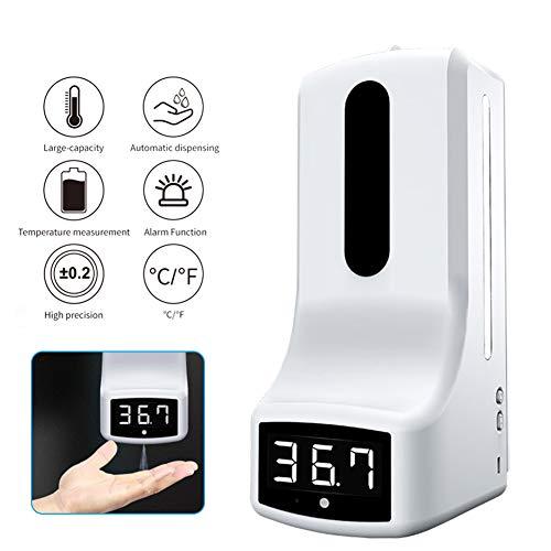 FJLOVE Máquina de Medición y Desinfección de Temperatura Dispensador Automático de Alcoholsin Dispensador Automático de Alcohol con Sensor,para hogar,Oficina,Hotel,Hospital
