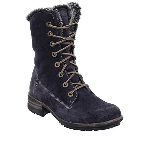Josef Seibel Damen Stiefel Sandra 93, Frauen Winterstiefel, Winter-Boots schnürstiefel gefüttert Lady Ladies feminin,Blau(Jeans),40 EU / 6 UK