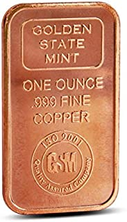 Golden State Mint 1 Oz Copper Bar