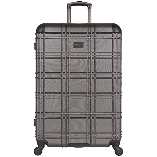Ben Sherman Nottingham Lightweight Hardside 4-Wheel Spinner Travel Luggage, Charcoal, 28-inch Checked