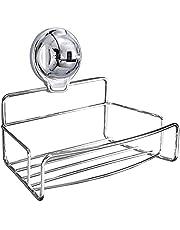 FECA E20 Shower Caddy Bathroom Shower Shelf Storage Basket 304 Stainless Steel Organizer for Shampoo Soap Bath Sponge for Kitchen Bathroom Drill Free Removable