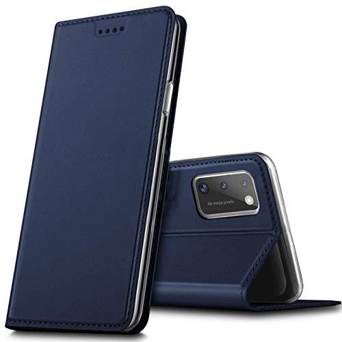 Verco Handyhülle für Samsung Galaxy A41, Premium Handy Flip Cover für Samsung A41 Hülle [integr. Magnet] Book Hülle PU Leder Tasche, Blau