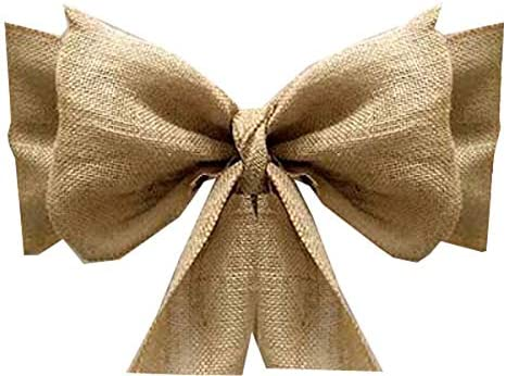 mds Pack of 75 Natural Burlap Chair Bow Sashes Natural Jute Country Vintage for Wedding and product image