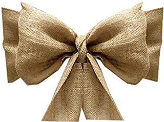 mds Pack of 75 Natural Burlap Chair Bow Sashes Natural Jute Country Vintage for Wedding and Events Supplies Party Decoration- Natural Jute Burlap Hessian Sashes
