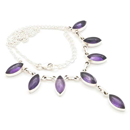 Amethyst Collier 925 Silber Sterlingsilber Kette Halskette lila (MCO 04-01)