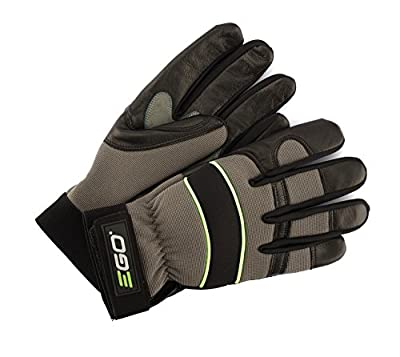 EGO Power+ GV002M Soft Goatskin Leather Breathable Work Gloves with Reinforced Protection for Durability, Medium