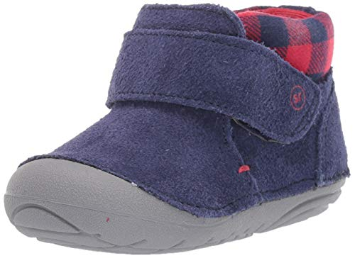 Stride Rite Baby-Boy's Soft Motion Oakley Ankle Boot, Navy, 3.5 M US Toddler