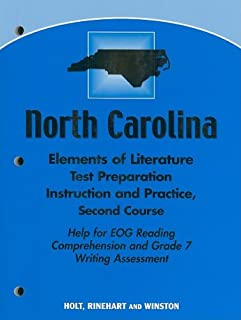 North Carolina Elements of Literature Test Preparation Instruction and Practice, Second Course: Help for EOG Reading Compr...