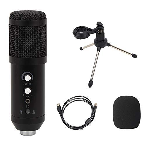 Skyeen Micrófono USB Versión Mejorada Micrófono de Condensador con Funciones de reverberación/monitorización/Silencio del micrófono