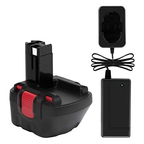 Exmate Batería con cargador AC7.2-24V para Bosch 2607335261 2607335274 2607335375 2607335415 BAT043 BAT045 BAT046 BAT049 PSR 12VE-2 GSB 12V E-2 GSR 12 VE-2.