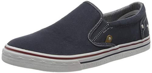 MUSTANG Herren 4147-401-800 Slip On Sneaker, Blau (Dunkelblau 800), 41 EU