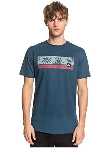 Quiksilver Jam It-T-Shirt pour Homme, Majolica Blue, FR : S (Taille Fabricant : S)