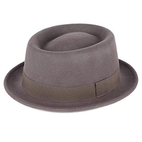 Hat To Socks Hat To Socks Grau Wolle Pork Pie Hut wasserdicht & bruchfest handgefertigtin Italien