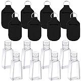 Girls'love Talk Lot de 8 bouteilles de voyage vides avec porte-clés, distributeur de liquide anti-fuite et récipients réutilisables pour le voyage