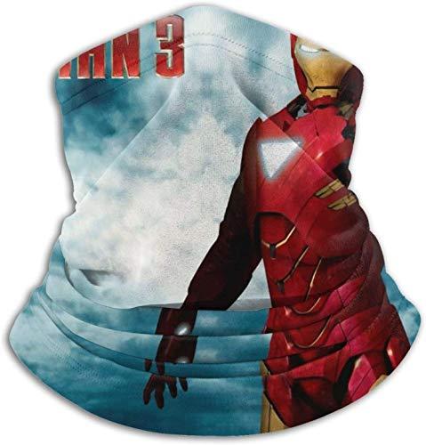 KINGAM Iron Man - Pasamontañas de invierno con 3 cuellos para hombre y mujer, para invierno, para invierno, para clima frío, a prueba de viento y motocicleta