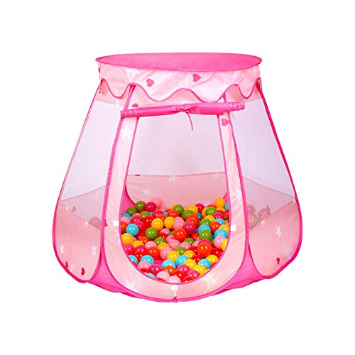JS-KIDSEZ Kids Tent, Use as Tent for Kids, or Ball Pits for Toddlers. Your Girl Will Enjoy This Premium Pop Up Kids Play Tent/Play House, This Kids Play Tent Can be Folded Easily into a Carrying Bag