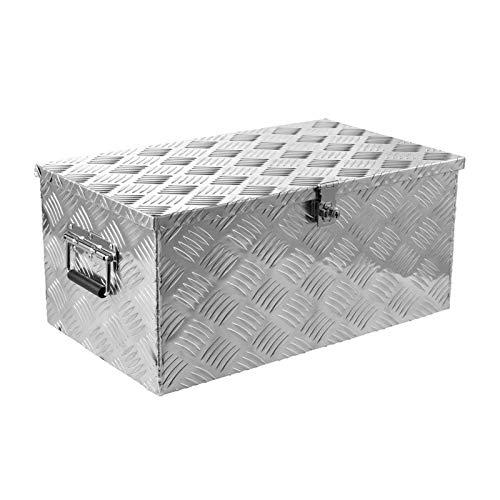 Frifer Caja de aluminio para herramientas de transporte, caja de herramientas para coche, caja de herramientas, con cerradura y llave, evita el polvo y la humedad, para almacenamiento doméstico