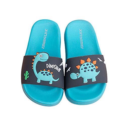 Zapatos de Playa y Piscina para Niña Niño Chanclas Sandalias Mujer Verano Antideslizante Zapatillas casa Hombre Zapatillas de Animal (Azul, Numeric_29)