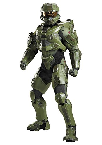 Disguise Men's Plus Size Halo Master Chief Ultra Prestige Costume, Green, XX-Large