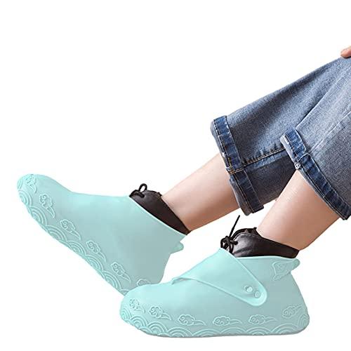 adfafw Silicone Overshoes Cubiertas de Zapatos Antideslizantes Unisex Impermeable Cubiertas de Zapatos de Silicona Resorte Rainshoes Productos al Aire Libre en días lluviosos economical
