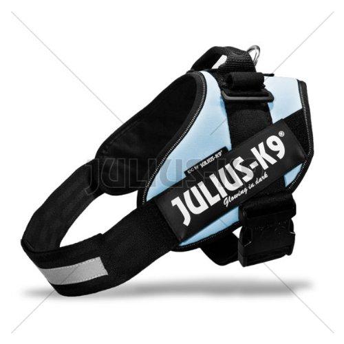 16IDC-BS-0 Julius K9 IDC INNOVA Dog Comfort Speaking Dog Harness Powerharness for Labels, Size: 0' Color: Blue Sky/Light Blue - Girth: 58-76cm - K-9