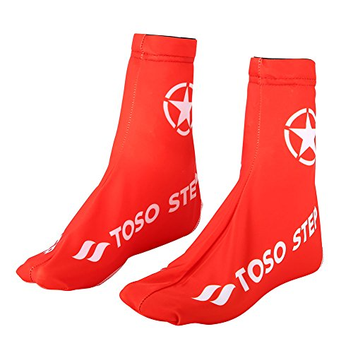 Alomejor scarpa copertura antipolvere traspirante bici copriscarpe con elastico in lycra per outdoor ciclismo e trekking, S