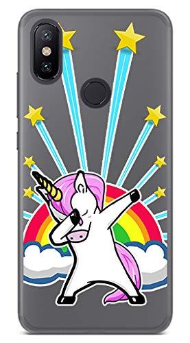 Tumundosmartphone Funda Gel Transparente para XIAOMI MI 6X / MI A2 diseño Unicornio Dibujos