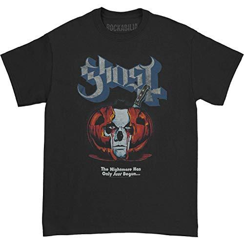 Ghost Men's Pumpkin Surprise Orange Logo T-Shirt Black M