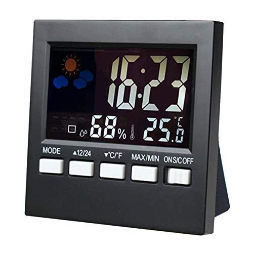 Termómetro, 1 Pieza Pantalla a Color Estación meteorológica Termómetro Memoria de Temperatura Alarma Soporte Plegable Pantalla Grande SN192