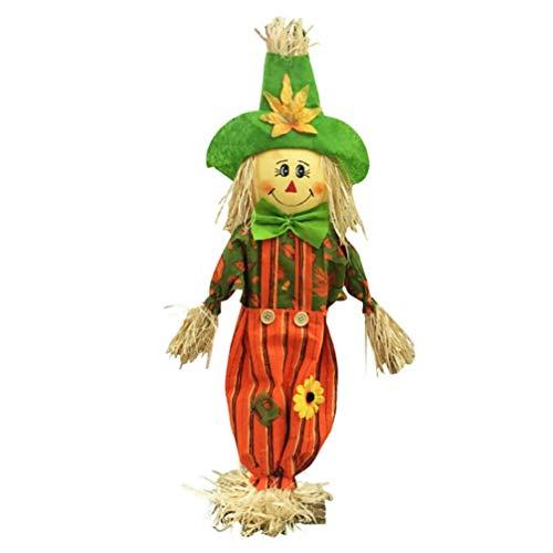 Artibetter Adorno de muñeca de espantapájaros de Halloween Lindas Figuras de espantapájaros para Accesorios de decoración de Fiesta de casa embrujada de Halloween