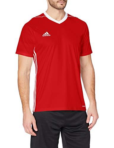 adidas Tiro 17 JSY Camiseta de Manga Corta, Hombre, Rojo (Rojpot/Blanco), M