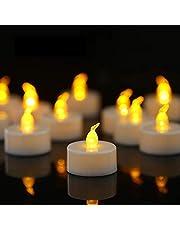 YIWER LED theelichtjes, 36 stuks LED-kaarsen CR2032 batterij aangedreven kaarsen vlamloze theelicht,Kerstmis bruiloft of andere gelegenheden breed gebruikt zijn (warm geel 36 stuks)